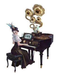 ArtStation - The pianist, wenfei ye