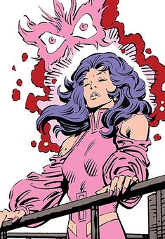 Psylocke of the X-Men (Marvel Comics) using her power with butterfly manifestation. From http://www.writeups.org/psylocke-marvel-comics-x-men-early/