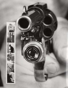 A Colt 38 with built in Camera (1930) A gun with a camera, camera automatically captured images while pulling trigger.
