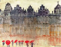 New Architectural Watercolors by Maja Wronska  http://www.thisiscolossal.com/2014/03/new-architectural-watercolors-by-maja-wronska/