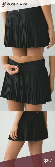 NWOT Lululemon 'Pleat to Street' Skort Lululemon 'Pleat to Street' Skort size 4  durable no-bulk performance woven for strength four-way stretch sweat-wicking LIGHT LUXTREME  This wide comfortable Light Luxtreme? fabric waistband lies flat under your top  comfortable easy to layer cool smooth handfeel naturally breathable LIGHT LUXTREME?  Built-in Light Shorts lululemon athletica Skirts Mini