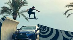 VIDEO: Guy jumps over a Lexus on their new hoverboard at a custom built hoverpark #hoverboard #hoverpark #tech