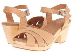 TOMS Beatrix Clog Sandal Sandstorm Vachetta Leather - Zappos.com Free Shipping BOTH Ways