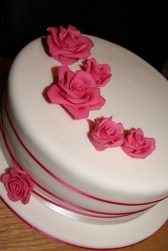 Roses Wedding Cake by Cakes by Occasion, via Flickr