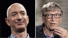 A surge in Amazon stock briefly pushed Amazon founder Jeff Bezos past Bill Gates on the Forbes richest person list.