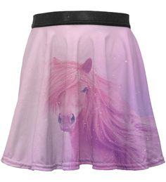 Gugu & Miss Go Pink Horse Sublimation Skirt - Toddler & Girls by Mr. Gugu & Miss Go is perfect! Kids Line, Go Pink, Skirts For Kids, Horse Print, Tween, Dress Skirt, Ballet Skirt, Horses, Toddler Girls