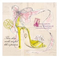 Princess Shoe Giclee Print by Barbara Lindner at Art.com
