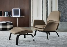 GILLIAM - Designer Armchairs from Minotti ✓ all information ✓ high-resolution images ✓ CADs ✓ catalogues ✓ contact information ✓ find your. Lounge Sofa, Sofa Chair, Curved Wood, Luxury Office, Single Sofa, Office Furniture, Living Room Designs, Dining Chairs, Home Decor