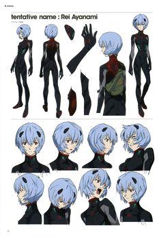 Rei Character Model Sheet