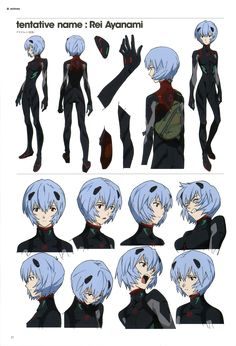Rei Character Model Sheet ✤ || CHARACTER DESIGN REFERENCES