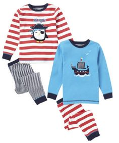 Mothercare Pirate Skinny Fit Pyjamas - 2 Pack