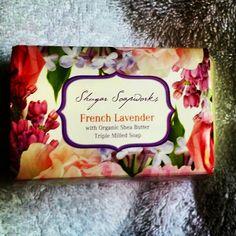 French Lavender by Shugar Soapworks / the lemon soap is fantastic also!