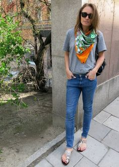sandals from ATP Atelier, jeans from Weekday, t-shirt H&M...
