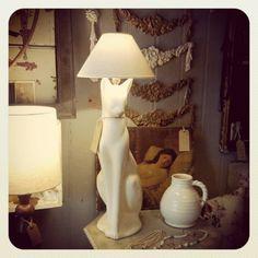 1930's cat lamp, Hunter Jones