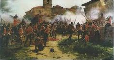 1813 - Batalla de San Marcial - Guerra de la Independencia Española -La batalla de San Marcial fue muy cruenta.  Más allá de las bajas, la jornada de San Marcial supuso el final de la ocupación francesa de las Vascongadas y Navarra,