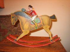 Gibbs - jockey on rocking horse toy