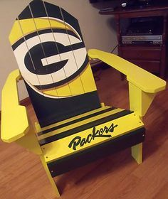 Green Bay Packers Adirondack Chair Welcome to Heaven - http://touchdownheaven.com/category/categories/green-bay-packers-fan-shop/
