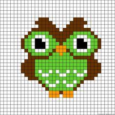 Owl perler bead pattern