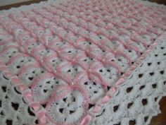 Copertina Petalosa Morello In Di Lana - Diy Crafts - - Diy Crafts - Baby Afghan Crochet, Manta Crochet, Crochet Bebe, Crochet Crocodile Stitch, Diy Crafts Crochet, Crochet Purse Patterns, Baby Knitting, Lana, Flower Embroidery