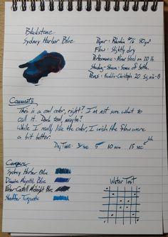 Blackstone Sydney Harbor Blue ~ Inkdependence!