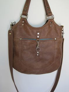 handstitched leather purse