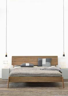 Doppelbett aus Teakholz TEAK AIR BED | Bett by Ethnicraft