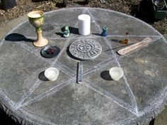 Pagan Altar. Pentacle.✪