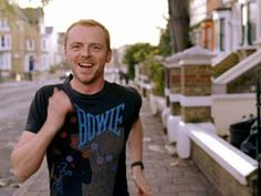 simon pegg. in a bowie shirt. need i say more?