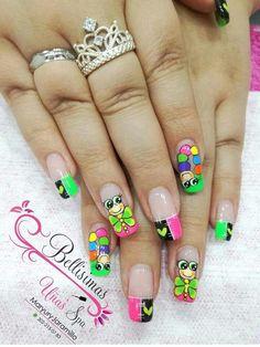 Manicure Nail Designs, Toe Nail Designs, Nail Manicure, Get Nails, Love Nails, Finger Nail Art, Disney Nails, Best Acrylic Nails, Nail Decorations