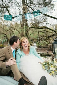 Julie and Jim's rustic Tennessee intimate wedding was a family affair full of intimate details, including saying vows to their 4 sons. See their great ideas for including kids in the ceremony here..