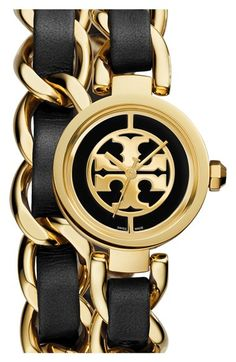 Tory Burch  Mini Reva  Double Wrap Chain Watch, 20mm available at  Nordstrom 9a4c0d448305
