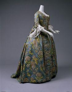 Dress (Robe à la Française), ca. 1760, British