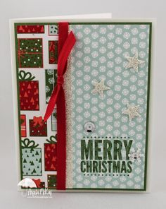 hand stamped joy fold christmas cards | SU - Nordic Noel on Pinterest | Noel, Stampin Up and Stamp Sets