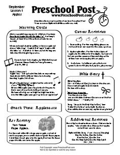 Apple Preschool Lesson Plan  Preschool    Lesson Plans