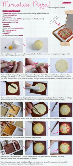 How to make a tiny polymer clay pizza.