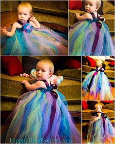 Pixie Tutu Dress; Peacock Colors  $45.00  HippityHootNotion  This is definitely a favorite!!