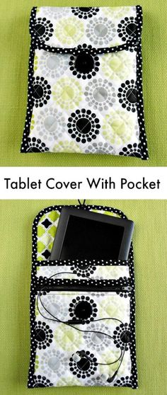 76 Crafts To Make and Sell - Easy DIY Ideas for Cheap Things To Sell on Etsy, Online and for Craft Fairs. Make Money with These Homemade Crafts for Teens, Kids, Christmas, Summer, Mother's Day Gifts. |  Tablet Cover With Zippered Pocket  |  diyjoy.com/crafts-to-make-and-sell