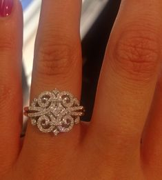 Vintage unique diamond ring Vera wang kohls.com. In love! Right hand ring
