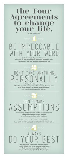 .The Four Agreements To Change Your Life - Rules to live by