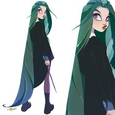 Ideas Hair Art Reference Character Design For 2019 Character Drawing, Character Illustration, Evvi Art, Art Sketches, Art Drawings, Drawing Faces, Illustrator, Slytherin Aesthetic, Character Design References