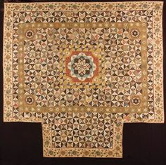 made in the Netherlands about 1800, has been in the collection of the International Quilt Study Center and Museum