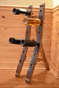 What makes a better wine rack than  the wood from a wine barrel?