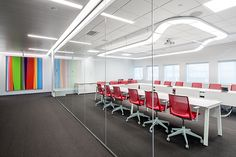 love these molded and bent light fixtures I'm seeing in conference rooms right now. #office#conference#light