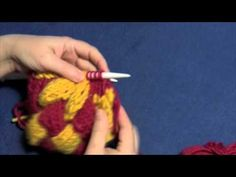 "Learn how to knit entrelac top triangles with Part Six of Planet Purl's six-part how-to video, taught by Beth Moriarty, author of ""Deep South Knitting."""