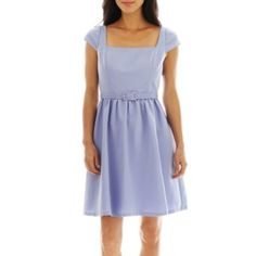 Simply Liliana Belted Fit-and-Flare Dress  found at @JCPenney  This might be cute with a pretty beaded belt on a girl with a figure.