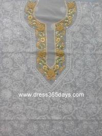 Buy Pure Georgette Kurta Fabric with Resham Chikankari and Parsi Embroidery
