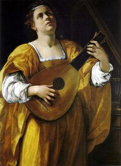 Saint Cecilia (c.1620). Artemisia Gentileschi (Italian, Baroque, 1593-1951). Oil on canvas. Galleria Spada, Rome. Gentileschi, influenced by...