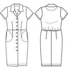 Платье - выкройка № 117 A из журнала 5/2011 Burda – выкройки платьев на Burdastyle.ru