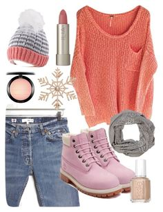 """Crochet"" by florasart ❤ liked on Polyvore featuring RE/DONE, Timberland, Ilia, MAC Cosmetics, John Lewis, Dylan and Essie"