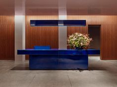 Office in New York is a minimalist office space located in New York, New York, designed by Halleroed Minimalist Office, Minimalist Interior, Wooden Panelling, New York Office, Bureau Design, Workplace Design, Healthcare Design, Wood Panel Walls, Design Furniture